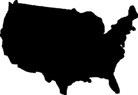 united states map black and white united states map black clip at clker vector