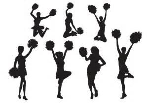 free vector cheerleader silhouette set download free