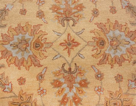 Beige Area Rug 8x10 by Heritage Traditional Handmade Wool 8x10
