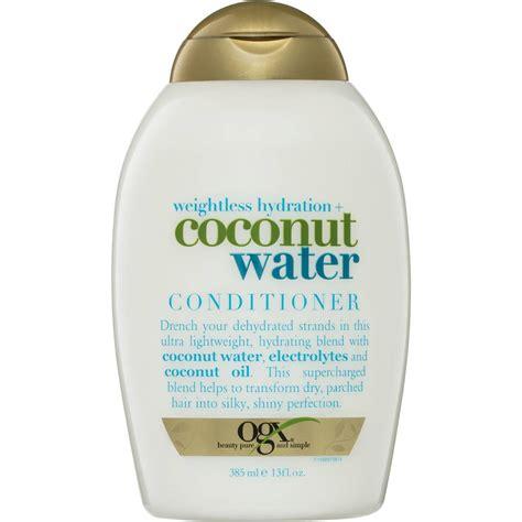 ogx shoo coconut water ogx conditioner coconut water weightless hydration 385ml