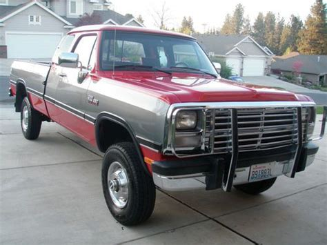 sell used 1993 dodge ram w250 in portland oregon united states for us 11 000 00 find used 1993 dodge ram w250 le 12 valve cummins 4x4 54k actual miles in spokane washington
