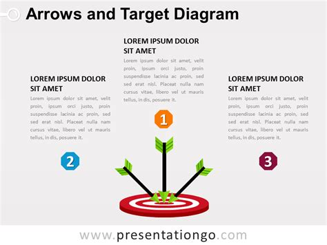 Arrows And Target Powerpoint Diagram Presentationgo Target Powerpoint Template
