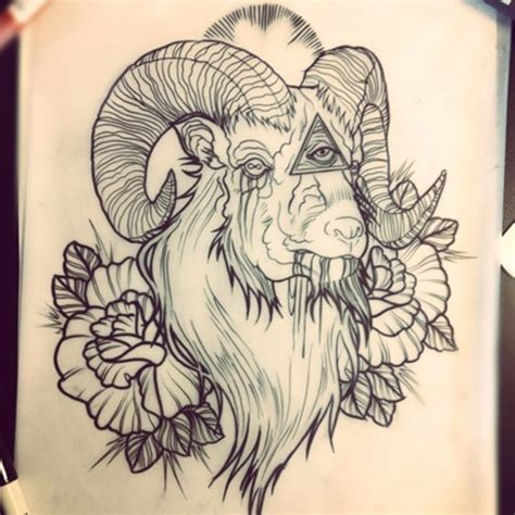 goat tattoo 32 inspiring goat designs