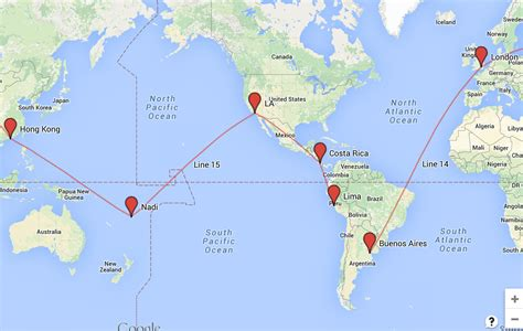 san jose flight map my top 7 gap year routes and the world ticket ideas