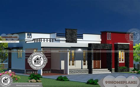 story house plans  box modern arch type