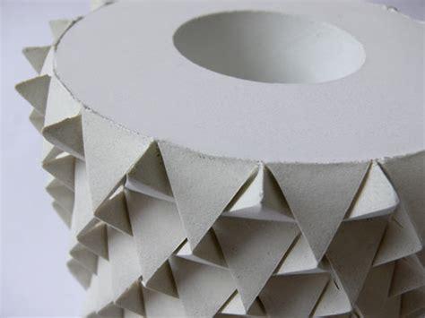 Concrete Origami - concrete palmas vases look like geometric pineapples
