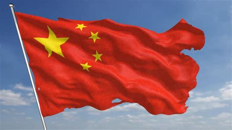 China Flag High Chrome the 4k china flag animated background features a high