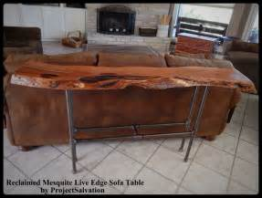 live edge sofa table buy a crafted live edge mesquite sofa table made to