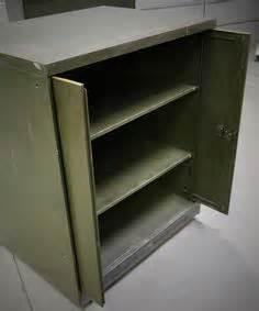 Steel Cupboard Retracting Door L35 vintage steel army green tanker desk all original made by general fireproofing youngstown