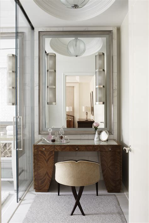 bathroom dressing table ideas wood vanity master bath sconces mounted on mirror glass