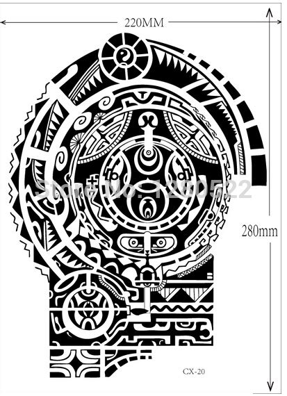 dwayne johnson tattoo flash star sticker picture more detailed picture about 3