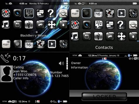 themes for blackberry phones themes miphone black for blackberry