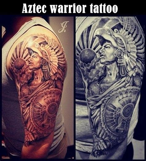 tribal warrior tattoo designs 55 aztec tattoos aztec