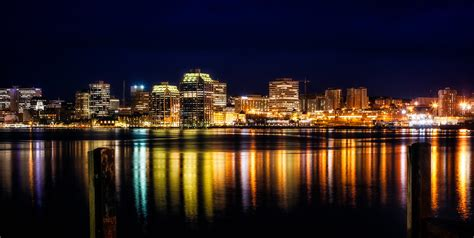 halifax skyline  night pat omalley flickr