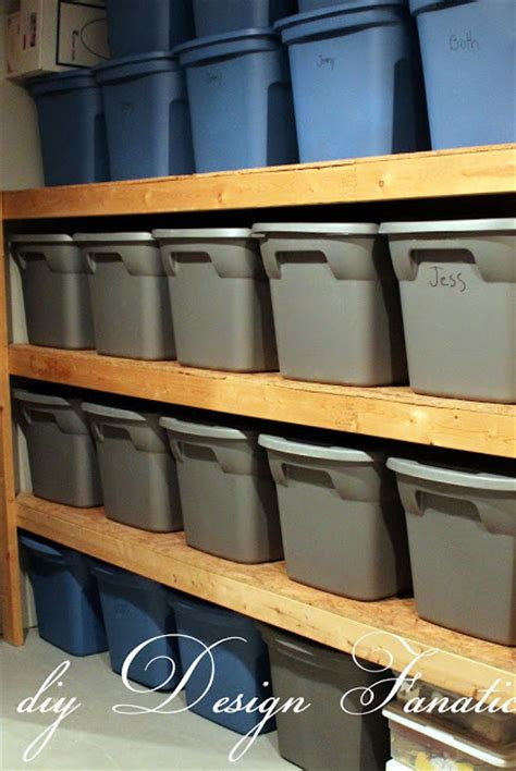 tote storage shelves diy design fanatic diy storage how to store your stuff