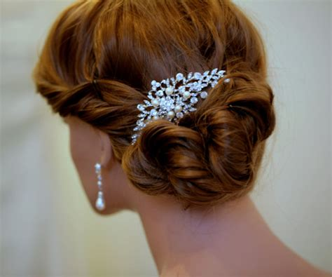 Vintage Bridal Pearl Hair Comb by Andrea Bridal Comb Vintage Style Wedding Hair Comb