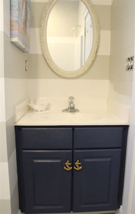 chalk paint bathroom vanity 1000 ideas about nautical bathrooms on