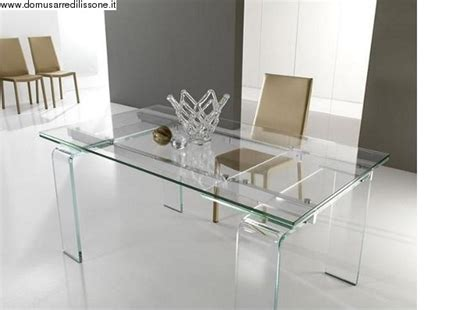 scrivanie semeraro tavolo trasparente in cristallo modello lord