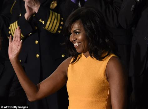 michelle obama yellow michelle obama wears yellow at barack s final state of the