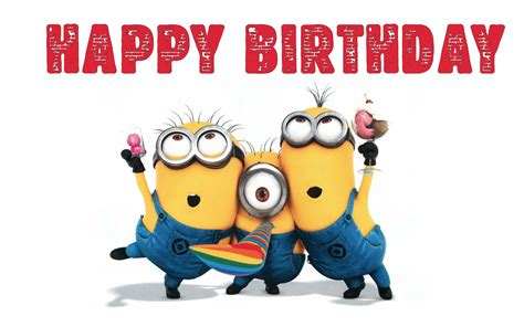 wallpapers happy birthday  bob stewart kevin despicable   minions