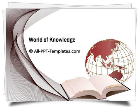 powerpoint templates knowledge powerpoint world of knowledge template