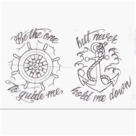 nautical couple tattoos anchor that i want tattoos ideas