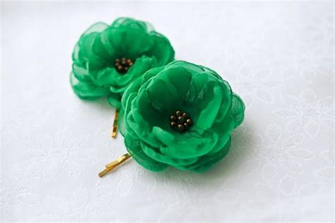 Wedding Hair Accessories Green by Sale Green Hair Flowers Wedding Hair Accessories Green