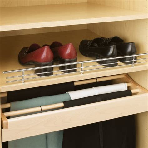 rev a shelf 17 quot wire shoe rail chrome finish csr 17cr 10