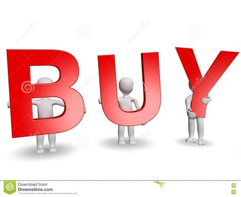 buy a 3d humans forming red buy word stock image image 21773491