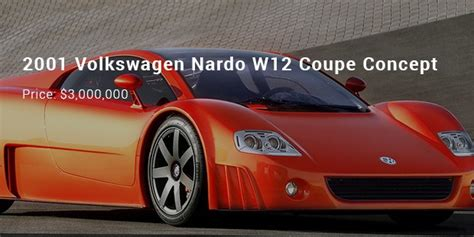 Most Expensive Vw by 2001 Volkswagen Nardo W12 Coupe Concept