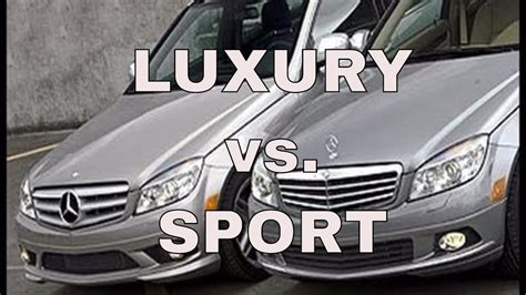 luxury mercedes sport mercedes c class sport vs luxury 2 3