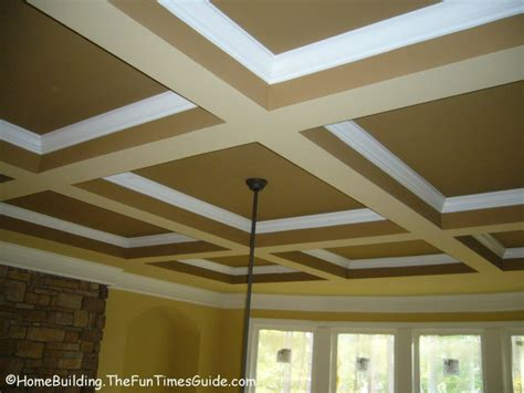 ceiling wood trim coffered ceiling