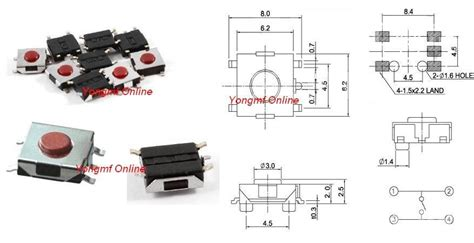 4 4 2 Mm Smd Tactile Membrane Switch Spst No 4 Pin Push Button Aq99 6x6x2 5mm 5 pin push button smd tac end 12 28 2018 5 15 pm