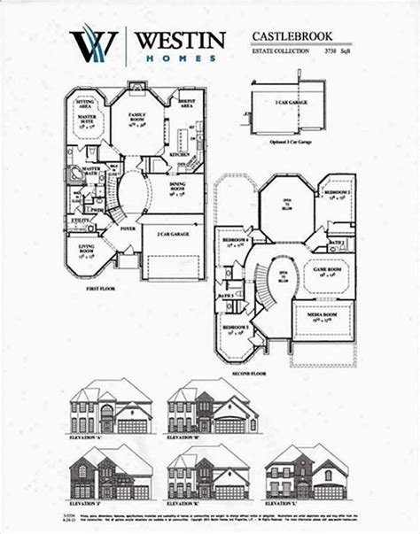 westin homes floor plans new westin homes floor plans
