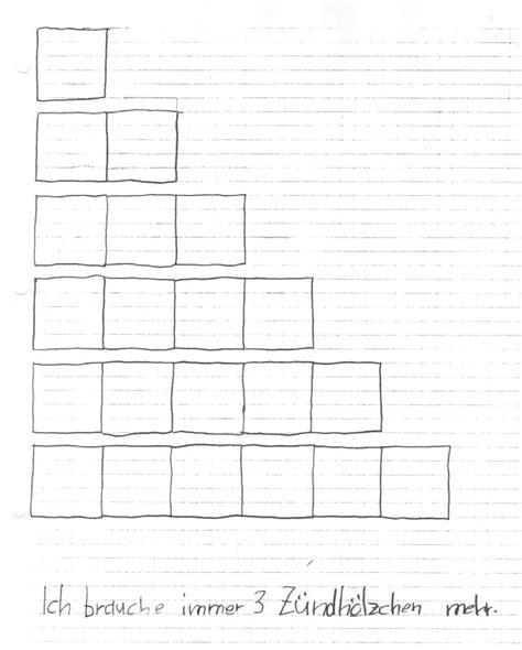 Muster Fortsetzen Vorlagen Muster Fortsetzen Wachsende Figuren