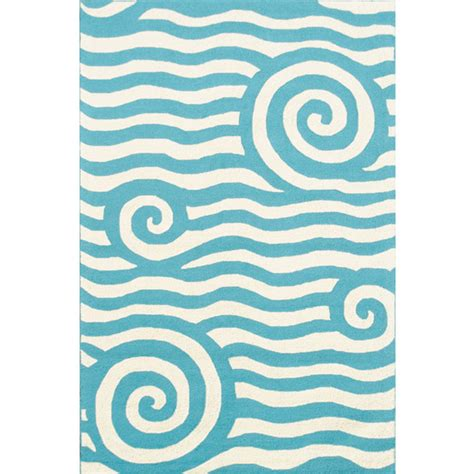 Blue And White Indoor Outdoor Rug yala blue and white wave indoor outdoor rug