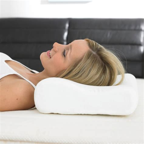 How To Sleep On A Contour Pillow by Sleep Secrets Classic Contour Pillow