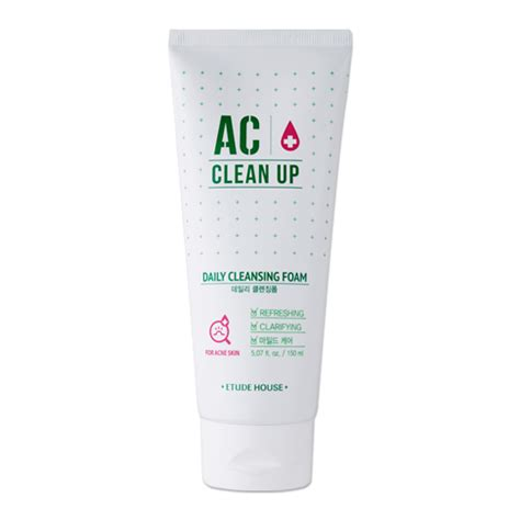 etude house ac clean up daily cleansing foam 150ml ebay