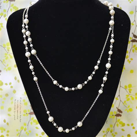 bead and chain necklace designs pearl necklace design how to make layered