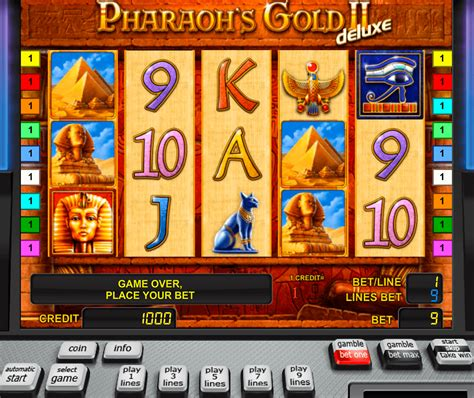 play pharaohs gold ii deluxe  slot novomatic casino