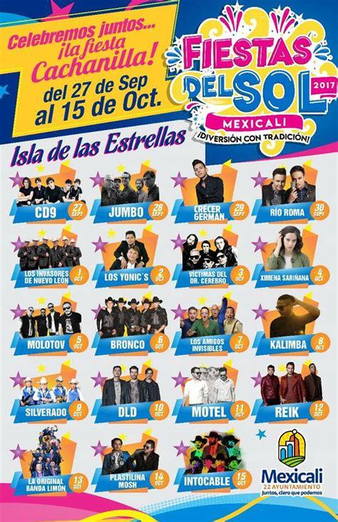 calendario de artistas fiestas del sol 2009 desde mexicali baja mexicali 686