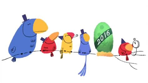doodle angka 7 new year s 2016 doodle animation