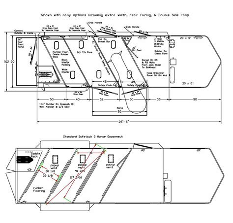 cer trailer floor plans gooseneck horse trailers for sale