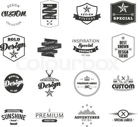 hipster design elements vector retro vintage insignias or logotypes set vector design