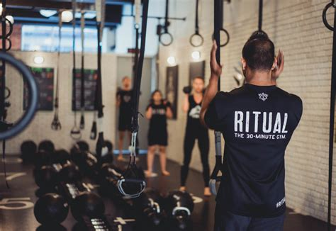 ritual gyms  minute workout promises results   tight