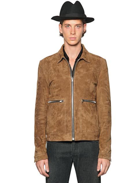 Jaket Suede Suede Jacket lyst the kooples suede jacket in brown for
