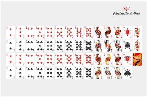 make your own deck of cards template flat cards deck illustrations on creative market
