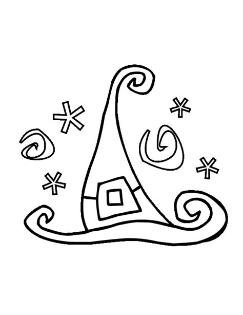 coloring page witch hat halloween witch hat coloring pages images pictures