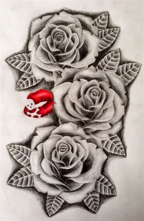 rose tattoo realistic some realistic roses tattooroses tattoodesigns