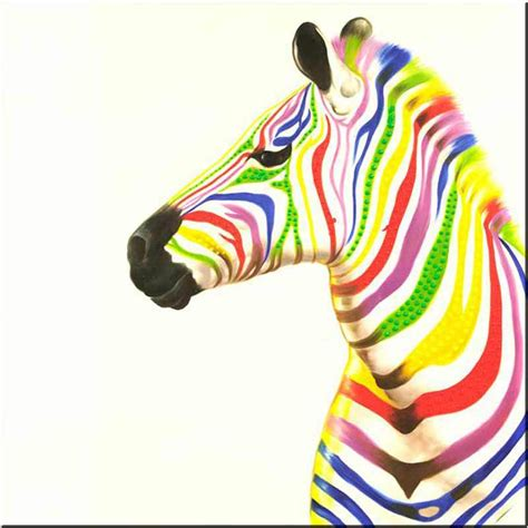 colorful zebra colorful zebra painting
